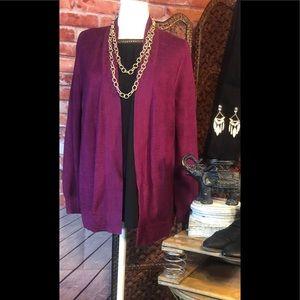 Beautiful Loft cranberry color cardigan